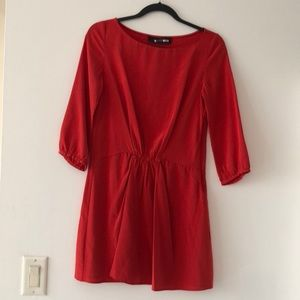 Thakoon Red Silk Dress Size 0